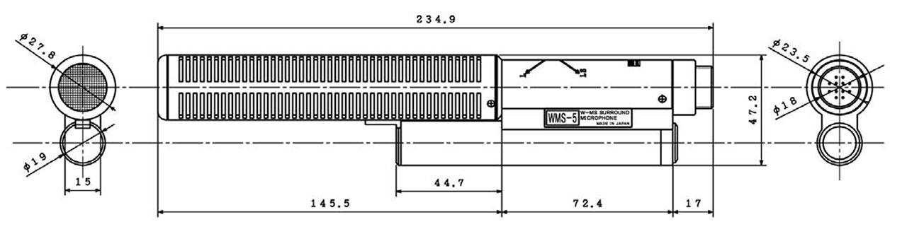 WMS-5 Dimensions