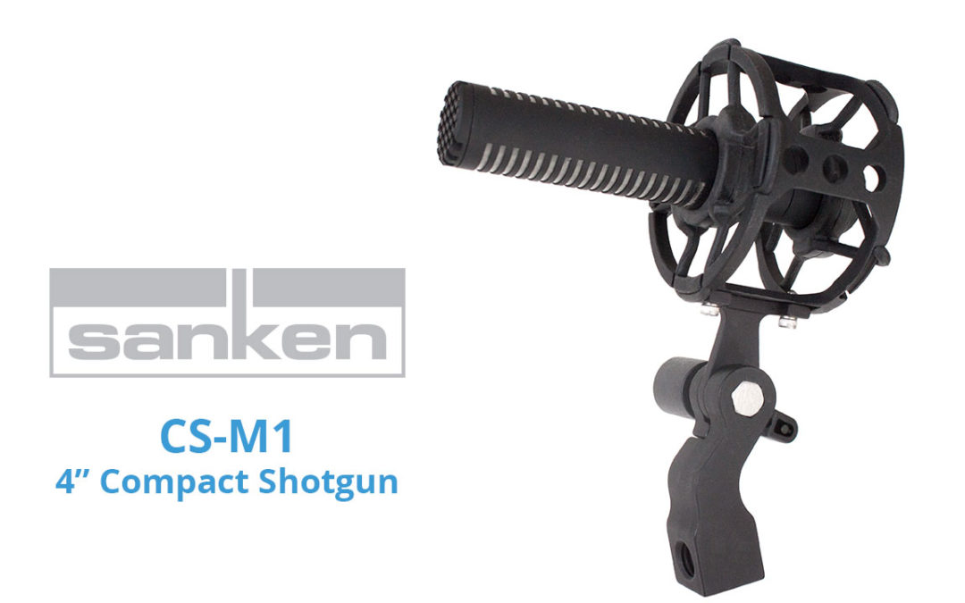 "Sanken Demonstrates New CS-M1 Short 4"" Shotgun Mic at NAB"