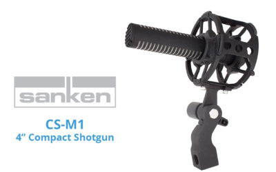 """Sanken Demonstrates New CS-M1 Short 4"""" Shotgun Mic at NAB"""